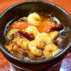 料理メニュー写真ALL¥500均一★小海老とマッシュルームのアヒージョ