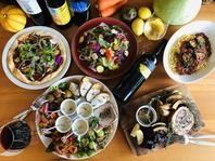 野菜×肉…魚…ナチュラルワインもベストマッチ