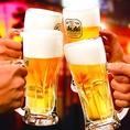 キンキンに冷えたビールで乾杯!