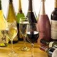ワインやスパークリングを和食に合わせるのも人気。溶岩焼き、肉寿司などの肉料理には赤ワイン、お刺身や鮮魚などの魚料理には白ワイン。そういった定番の飲み方ももちろん良し☆グラスは500円、ボトルは1980円からとお値打ちです