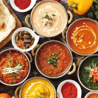 豊富な本格インド料理を・・・