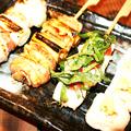 料理メニュー写真【播州百日鶏】ねぎま・ムネワサ・しそ梅・せせり・ハラミ・ソデ・ソリレス・トリトロ