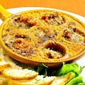 料理メニュー写真つぶ貝のガーリックバター焼き(フランスパン添え)