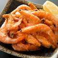 料理メニュー写真鶏皮フライ/エッグフライ/小エビの揚げ物/手羽先揚げ/スパイシーオムレツ