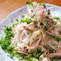 料理メニュー写真パイン豚のしゃぶ2サラダ