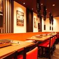 宴会に最適なテーブル席は16名様~28名様までご利用可能!会社宴会や歓迎会、送別会など各種宴会にご利用ください♪