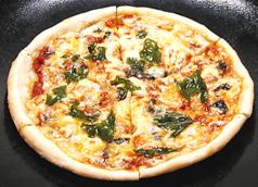 青じそ&トマトの自家製ピザ