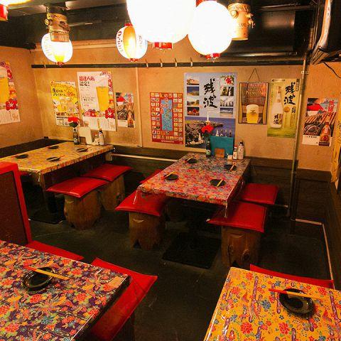 【沖縄気分を満喫】 まるで沖縄を思わせるかのような落ち着いた空間は、ゆったりとお酒やお食事をお楽しみ頂けます!浜松町での女子会、ご宴会、貸切の際は是非一度お立ち寄り下さいませ。スタッフ一同心を込めておもてなし致します。