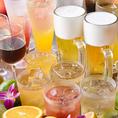 飲み放題メニューは豊富な100種以上!二次会にも便利な飲み放題プラン1700円(税抜)も◎