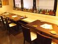 テーブル席は最大12名~25名まで対応!