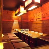 少人数の個室や半個室空間
