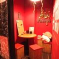 ◆完全個室のカップルシート。周りを気にせずお楽しみいただける雰囲気抜群の個室席です。