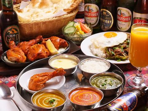 インドやタイ・中華など、アジア各国の多彩な料理をお楽しみください。