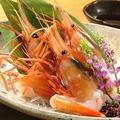 料理メニュー写真お刺身各種  ※写真は牡丹えびです。