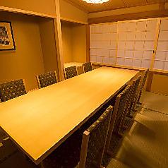 テーブル個室あり!落ち着いた空間は顔合わせや接待などにも重宝されます。4名様~8名様でご利用可能。