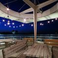 【テラス】夜風に吹かれて気持ちいいテラス席。お席は限りがありますので、お早めのご予約がおすすめ!!