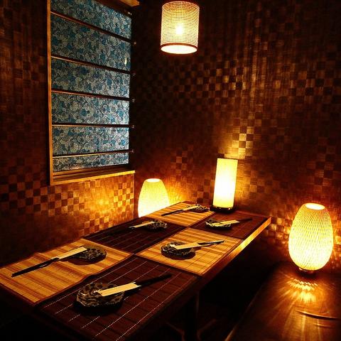 【宴会処】竹造りの和情緒伴う店内と大人数個室。厳選素材の和風御前コース★