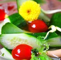岡山県産×農家から直接仕入れる新鮮野菜を使用