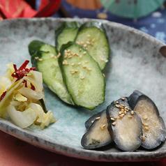 料理メニュー写真京漬物三種盛り