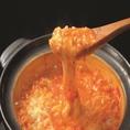 〈〆にも拘り有〉鍋の後はとろーりチーズが大人気のリゾットで決まり♪