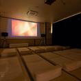 宿泊のお客様に大人気。シアタールームで映画鑑賞をしてゆったり過ごしてみてはどうでしょうか。映画内容は随時変更になりますのでおお気軽にお問合せ下さい♪