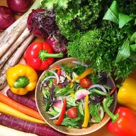 地元の農家から仕入れる野菜なので安心・安全☆