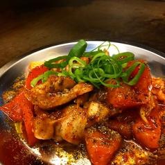 料理メニュー写真鶏とトマトのシビ辛炒め
