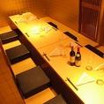 ご接待、記念日に円居ではゆっくりお過ごしいただける完全個室をご用意。また、テーブル席貸切、カウンター貸切、全館貸切に対応。