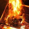 【おすすめ其の弐】食材ご厳選備長炭で豪快においしく料理します!