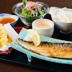 トロ鯖の文化干し(大)と天麩羅定食