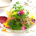 料理メニュー写真花とハーブのフレグラサラダ