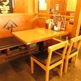 人数に合わせたテーブルをご案内します。
