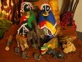 店内にはアフリカの珍しい小物も沢山!