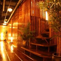 全席個室、木造りの杜の隠れ家。人気のロフト席多数。