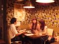 【4名掛けテーブル】個室にもできる使い勝手のいいスペース!