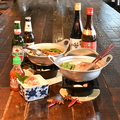 料理メニュー写真豚肉と春雨の五香火鍋/ Chinese Hot Pot
