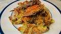 料理メニュー写真ワタリ蟹2匹のクリームソース、生スパゲッティ