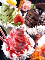 甘いものは別腹☆チョコ・抹茶・ストロベリーパフェ♪
