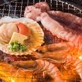 料理メニュー写真海鮮焼盛合せ(えび焼・ホタテ焼・イカ焼)