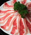 料理メニュー写真国産豚バラ 120g