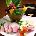 料理メニュー写真厳選野菜のバーニャカウダ