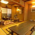 2階座敷は団体様の個室としてご利用可能!