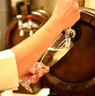 樽生 スパークリングで乾杯!パスタに合うお酒が豊富♪