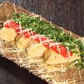 料理メニュー写真どっさりネギと明太子とチーズの玉子焼き