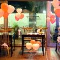 【ハート型風船装飾】30名様以上特典。ハート型の風船装飾が人気!かわいい&幸せたくさんのウェディングの演出にぴったり♪