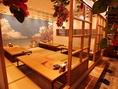 沖縄の雰囲気たっぷりの個室