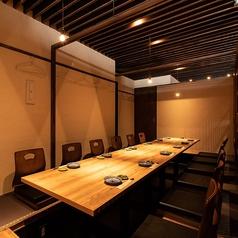 宴会にもOK!12名様までOKの完全個室です。お席の指定は出来かねます。個室確約は代金からの10%にて先着順で承っております。