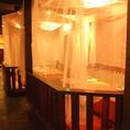 カーテン個室が人気のお座敷