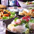 海商自慢の刺し盛り付き【飲み放題】コースは4500円~ご用意。シーンに合わせて各種コースをご利用ください。