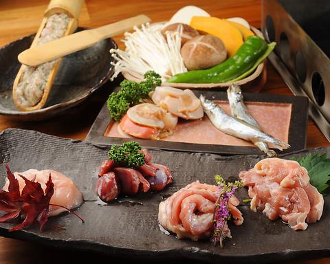 九州産の鶏肉や特選黒豚、極上牛肉などの厳選素材を天然石で焼き上げる石焼専門店!
